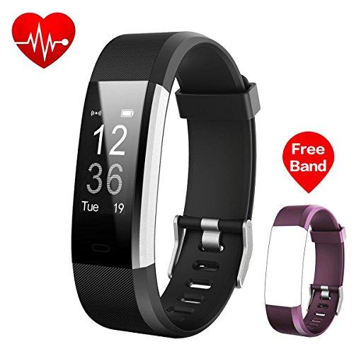 iposible Fitness Armband Uhr mit Pulsmesser, Fitness Tracker Schrittzähler Aktivitätstracker Pulsuhr Wasserdicht Herzfrequenzmonitor Smart Armbanduhr Schlafmonitor,GPS für Damen Herren Kinder