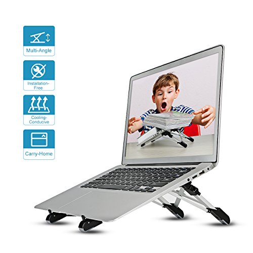 Megainvo Laptop Ständer, Laptopständer Höhenverstellbar & Ergonomisch Notebook Ständer Komfortabler & Universal Ständer für für MacBook Pro/Air Notebook/iPad Thinkpad Tablet Notebook, Laptop Stand