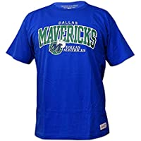Mitchell & Ness Dallas Mavericks Team Arch NBA - Camiseta de Manga Corta, Color Azul