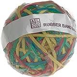 ALCO Gummibänder Ball, Rubber Band Ball, 50mm, Inhalt 190gr., sortiert