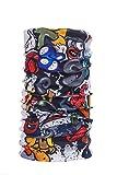 #8: Noise NOIHWP214 13-in-1 Sassy Skull Multifuntional Polyester Bandana, Free Size (White)