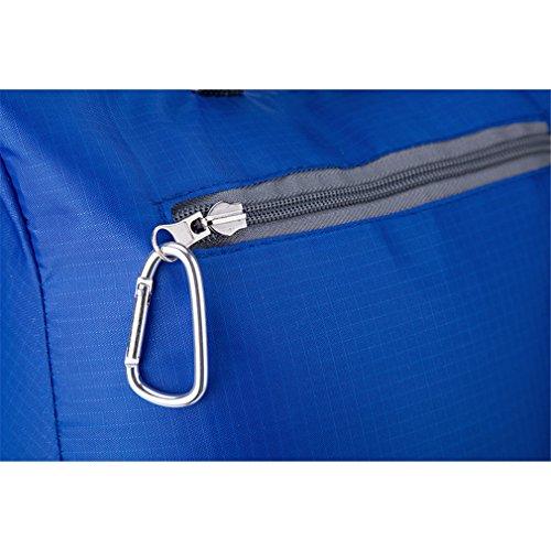 The most resina resistente, compatto e leggero borsa con cerniera interna, sport all' aperto alpinismo pieghevole zaino. Opzioni di colore. Capacità: 20l, Uomo, Green Blue