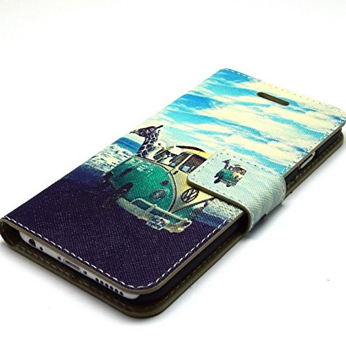 Più colorate Ancerson in pelle PU Flip Custodia Cover per Apple iPhone 6 Plus 5,5 pollici inch in pittura ad olio Stil Colorful Painting Flip Case Custodia in similpelle custodia per cellulare con sup Tiergarten
