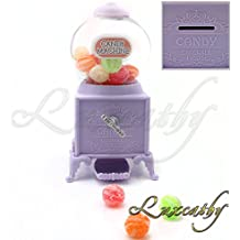 Luxcathy Gumball Bank Candy Dispenser Máquina expendedora para fiesta, Candy / Chocolate / Jelly Bean