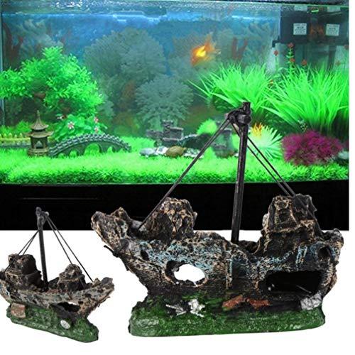 Gamloious Barco Pirata Acuario Jardines Fish Tank
