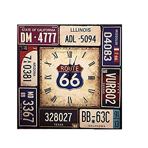 Gyps Home Wohnzimmer Schlafzimmer Büro Cafe Bar Decor Retro Wanduhr Original Vintage Rustikale Wanduhr Das Wohnzimmer Bügeleisen Platten Wanduhr Kreative Amerikanische Antike Uhr