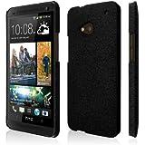 EMPIRE KLIX Slim-Fit Dur Case Étui Coque for HTC One M7 - Quicksand Noir (Films de protection d'écra