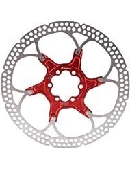 Formula  Disco de freno con 6 agujeros para bicicleta (180 mm), color rojo