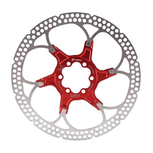 Formula - Disco freno 140 mm, 6 fori, colore: Rosso