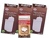 Human-Wellness EcoAqua 3 x Wasserfilter für Bosch VeroBar Siemens EQ3 EQ5 EQ6 EQ8 +9 kompatibel Brita Intenza + 10 Reinigungstabs
