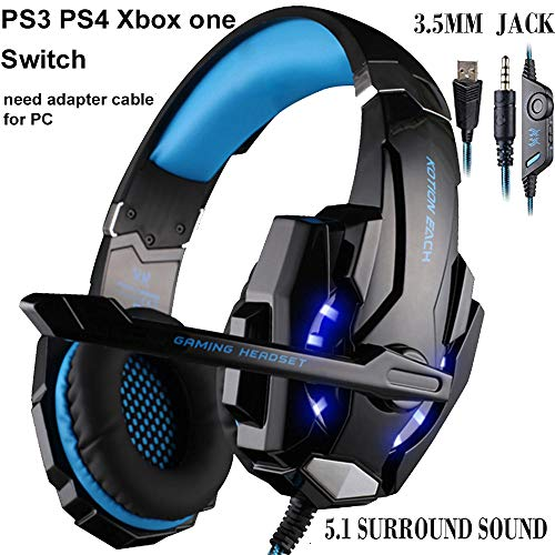 Gaming Headset, Topselling Store Auriculares para juegos Over-Ear de 3.5 mm Auriculares para juegos...