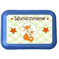 wolga-kreativ Brotdose Lunchbox mit Name Fuchs Fuchse und Wunschname mit Trennsteg Viele Motive preisvergleich bei kinderzimmerdekopreise.eu