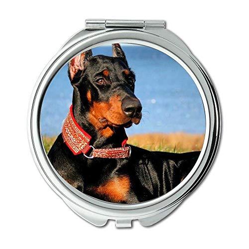 Yanteng Spiegel, Travel Mirror, Mops Hund Drucken Gefahr Hund, Taschenspiegel, 1 X 2 X Lupe