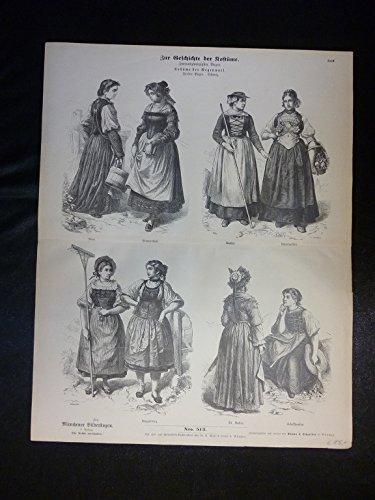 (Zur Geschichte der Kostüme - Nr. 513 - Kostüme der Gegenwart. Fünfter Bogen. Schweiz.)