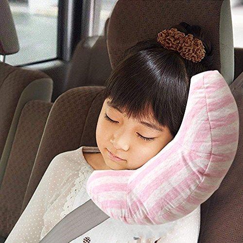 Csheng Autogurt Kissenbezug Polster Schulter Sicherheit weich Kind Sicherheitsgurt Kissen komfortablem Band gepolstert Gurtzeug für Babykopfstütze (Rosa)