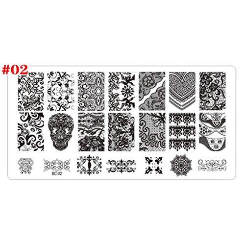 LouiseEvel215 Nail Art Stamping Platten DIY Spitze Blumen Schönheit Stempel polnischen Druck Nail Art Vorlagen Maniküre