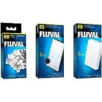 Fluval U2filtro Set–Almohadillas de espuma, policartuchos de carbono y biomax.70g
