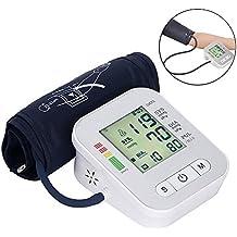 OXOQO Digital Monitor Di Pressione Sanguigna Braccio automatico LCD Heartbeat Home Sphgmomanometer, Bianco