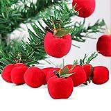 FeiliandaJJ Anhänger Flanell Apfel Weihnachten Deko Anhänger Christbaumschmuck Party Hochzeit Haus Dekoration Feiertags Geschenke (Rot)