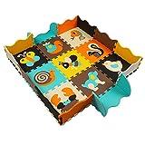 Alfombras Puzzle Alfombras para Bebes Alfombras de Juegos Infantiles con Valla no Toxica 25 piezas