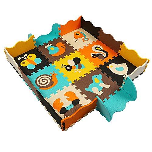 Puzzlematte Spielmatte Spielteppich Schaumstoff Puzzle Kinderteppich25 Stück 120cm * 120cm * 1cm (K002)