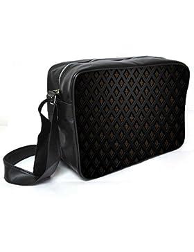 Snoogg Abstrakt yacheyki Leder Unisex Messenger Bag für College Schule täglichen Gebrauch Tasche Material PU