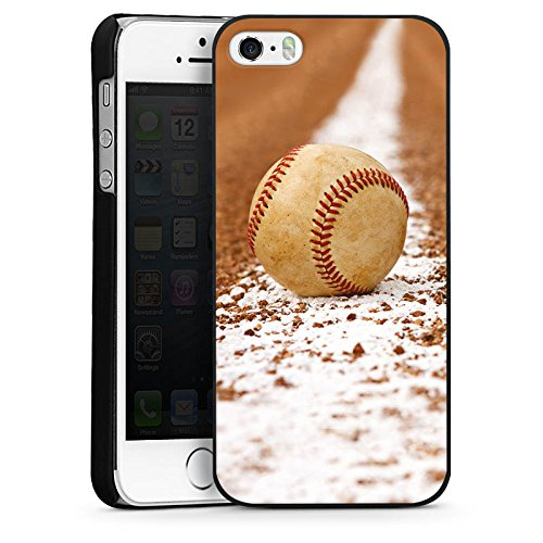 Apple iPhone 4 Housse Étui Silicone Coque Protection Baseball Terrain de sport Balle CasDur noir