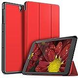 ELTD Custodia Cover per Samsung Galaxy Tab S3 9.7, Pelle con Funzione di Stand Flip Copertina Smart Case Cover per Samsung Galaxy Tab S3 9.7, Rosso