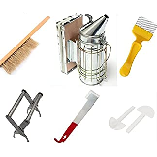 Beekeeping Tools Kit -10 Pcs. -Bee Hive Smoker, Beekeeping Accessory -Bee Keeping Tool Beekeeping Tools Kit -10 Pcs. -Bee Hive Smoker, Beekeeping Accessory -Bee Keeping Tool 51k9Z80C6XL