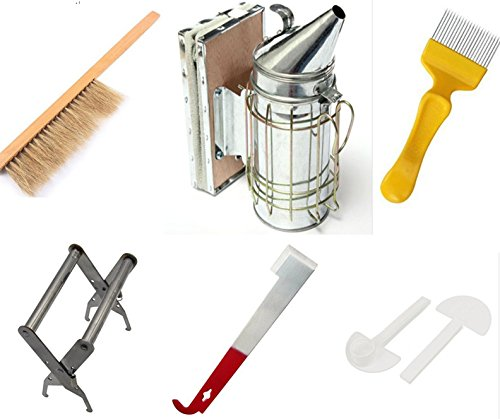 LamYHeng Beekeeping Tools Kit -10 Pcs. -Bee Hive Smoker, Beekeeping Accessory -Bee Keeping Tool 1