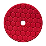Chemical Guys Hex Logic Quantum 140 mm 14 cm Rouge Ultra Light Finishing Pad ~ Voiture