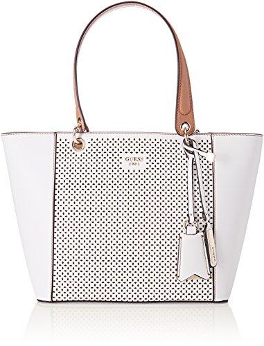 Guess Damen Bags Hobo Schultertasche, Mehrfarbig (White Multi), 15x26.5x42 centimeters