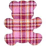 Alfombra para bebé oso Teddy Tartan, algodón, rosa, 100x120