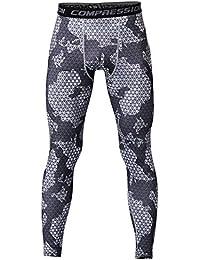 UNIQUEBELLA Pantalon de Compression Homme Legging de Sport Pantalon Collant  pour Fitness Course 69dd325da9b