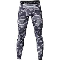 UNIQUEBELLA Pantalon de Compression Homme Legging de Sport Pantalon Collant pour Fitness/Course