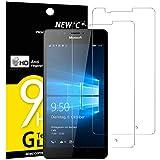 Pack de 2 Verre Trempé Nokia Microsoft Lumia 950, NEWC Film Protection en Verre trempé écran Protecteur vitre ANTI RAYURES SANS BULLES D'AIR Résistant Dureté 9H pour Nokia Microsoft Lumia 950