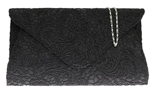 hg-ladies-satin-lace-clutch-bag-oversized-womens-evening-events-fashion-shoulder-chain-black