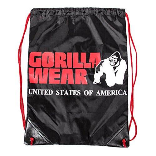 Logo Drawstring Taschen (Gorilla Wear Drawstring Bag Black/Red)
