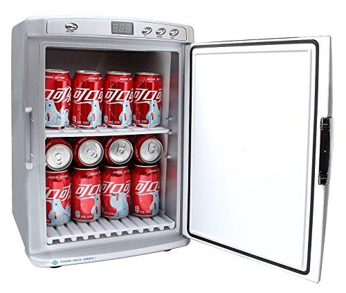 Mini-Kühlschrank Minibar Camping Box 25 Liter 220 V + 12 Volt (KFZ) + Nachtschaltung für leisen Betrieb Kühlen oder Wärmen (Mini Camping Kühlschrank)