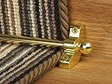 Extreme® Jubilee Treppe Ruten ~ Messing–6x Einfache Ruten zu Passform–Gute Qualität Hohl Treppe Teppich Läufer Bars Günstigen Billig und New