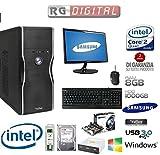 """PC DESKTOP INTEL QUAD CORE CON MONITOR 22"""" SAMSUNG 1TB SATA III/RAM 8GB 1600MHZ/HDMI-DVI-VGA/USB 2.0 3.0/TASTIERE A E MOUSE/ PC FISSO COMPLETO ASSEMBLATO PRONTO ALL"""