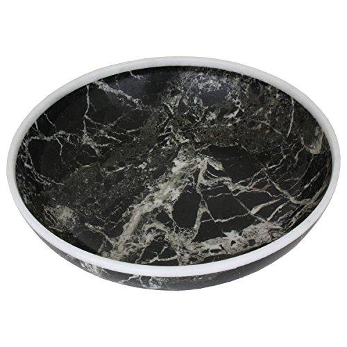 HARK Marmorschale BLACK-ZEBRA Marmor Schale Obstschale Schüssel massiv Naturstein Marble