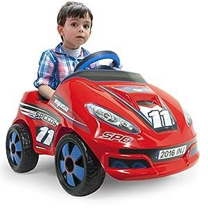 INJUSA- Coche Speedy de 6V con Radio Control iMove para niños a Partir de 1 año, Color Rojo (7141)