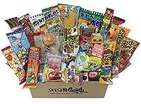 La boîte contient 40 bonbons et une collation différents