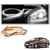 #7: 2 Pc. Vheelocityin 45 cm Waterproof Flexible Tube Strip Car Interior/ Exterior Light - White For Maruti Suzuki Ciaz