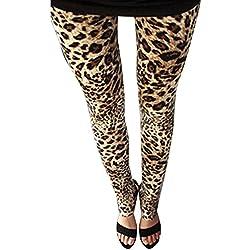 Guiran Pantalones Mujer Largos Leggings Pantalones Leopardo Leggins Talle Alto Leggings Casual Leopardo1 Un-Tamaño