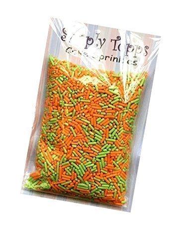 Orange & Grün Halloween Zuckerstreudekorationen für Kuchen 30g -