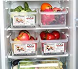 HapiLeap Refrigerator Organizer Plastic Storage Containers Food Storage Organizer Boxes for Fridge Cabinet Desk (3 Pack)