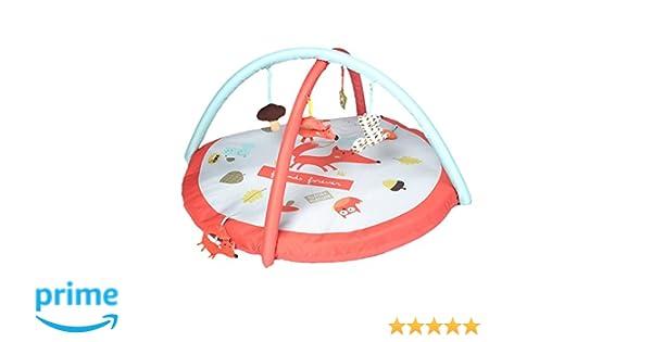 499ecc02c37a Labebe -Tapis d éveil pour bébé - Tapis d activité renard avec arche et  jouets éducatifs (renard)