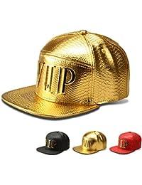 WJkuku Krokodil Buchstabe VIP Trendsetter Hip-Hop Baseball Cap (goldene)